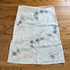 Dresses & Skirts - Cream beaded and sequined skirt